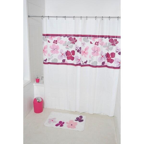 Evideco Bathroom Printed Shower Curtain Softies Peva