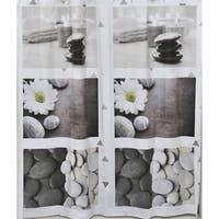 Evideco Bathroom Printed Liner Shower Curtain Zen Garden Peva