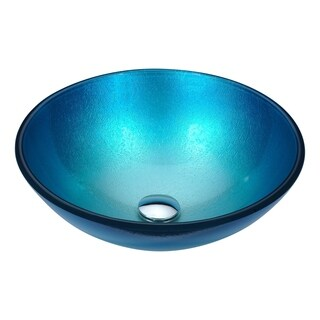 ANZZI Posh Series Deco-Glass Vessel Sink in Silver Blue