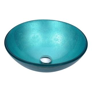 Anzzi Posh Series Coral Blue Deco Glass Vessel Sink