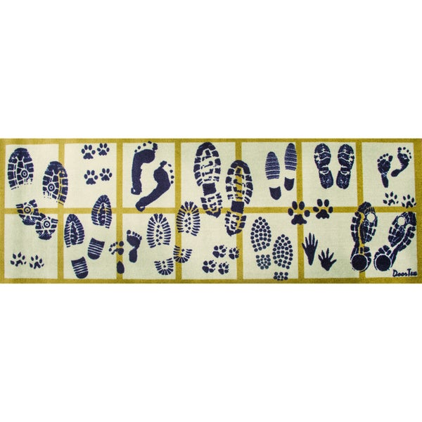 "Doortex | Long Indoor Entrance Runner Mat | Footprint Design | Size 20"" x 55"""