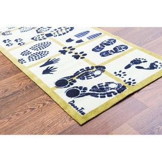 "Doortex Long Indoor Entrance Runner Mat Footprint Design Size 20"" x 55"""