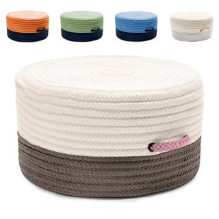 "Color-Tone Extra Firm Reversible Pouf/Ottoman (20""D x 11""H)"