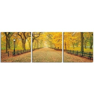 "Elementem Photography: ""A Walk in the Park"" Photography Print 3-Panel Panoramic Wall Art"