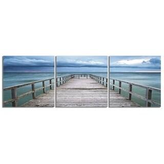 "Elementem Photography: ""Baltic Sunset"" Photography Print 3-Panel Panoramic Wall Art"