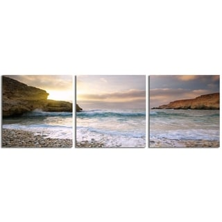 "Elementem Photography: ""Majorca"" Photography Print 3-Panel Panoramic Wall Art"