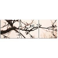 "Elementem Photography: ""Branch"" Photography Print 3-Panel Panoramic Wall Art"