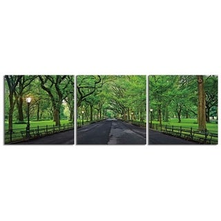 """Elementem Photography: """"Central Park Summer"""" Photography Print 3-Panel Panoramic Wall Art"""