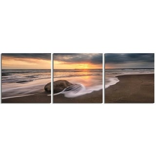"Elementem Photography: ""Rock Calm"" Photography Print 3-Panel Panoramic Wall Art"