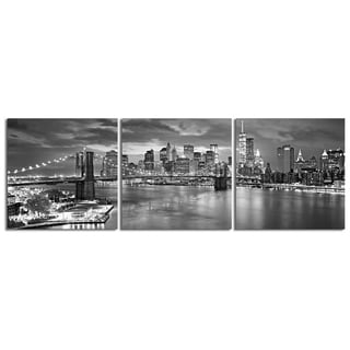 "Elementem Photography: ""Glass Steel Stone"" Photography Print 3-Panel Panoramic Wall Art"
