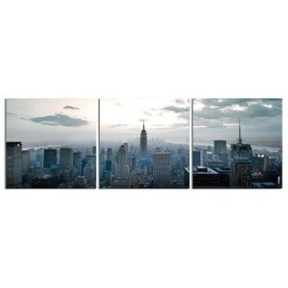 """Elementem Photography: """"Empire State of Mind"""" Photography Print 3-Panel Panoramic Wall Art"""