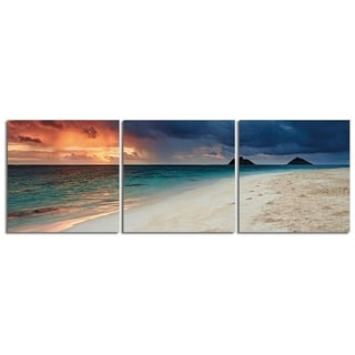 "Elementem Photography: ""Island Paradise"" Photography Print 3-Panel Panoramic Wall Art"