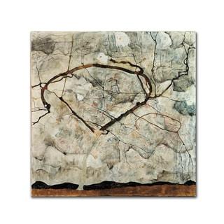 Egon Schiele 'Winter Tree' Canvas Art