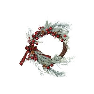 Frosted Sprig Wreath