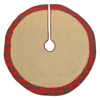 Holiday Plaid Burlap Tree Skirt