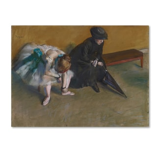 Degas 'Waiting' Canvas Art