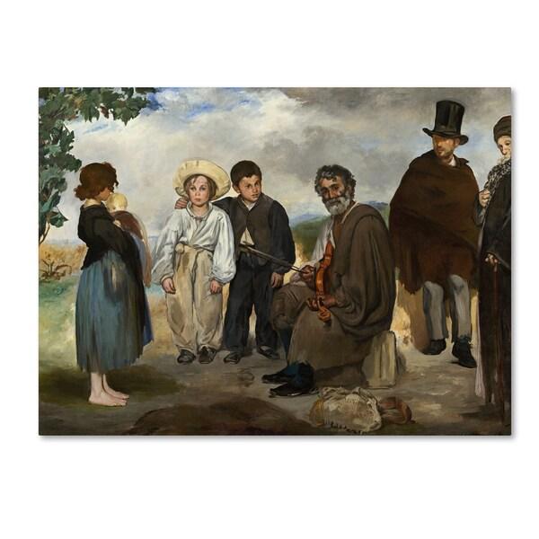 Degas 'The Old Musician' Canvas Art