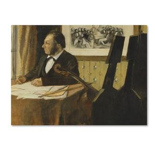 Degas 'The Cellist Pilet' Canvas Art