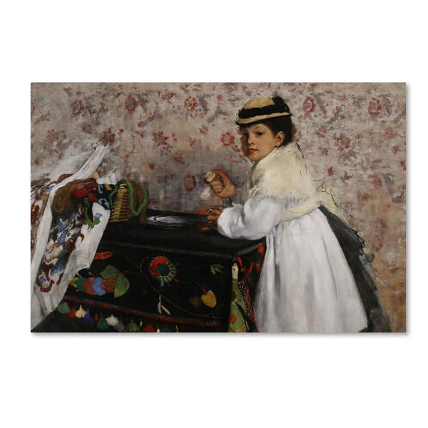 Degas 'Portrait Of Hortense' Canvas Art
