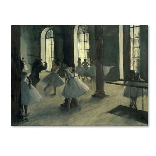 Degas 'La Repetition Au Foyer De La Danse' Canvas Art