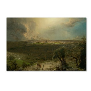 Church 'Jerusalem From The Mount Of Olives' Canvas Art