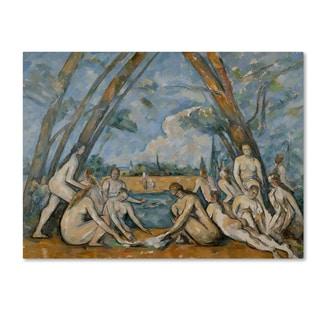 Cezanne 'The Large Bathers' Canvas Art