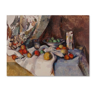 Cezanne 'Still Life With Apples' Canvas Art