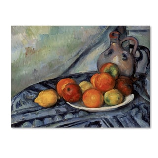 Cezanne 'Fruit And A Jug On A Table' Canvas Art