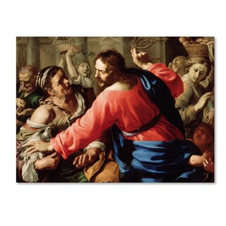 Bernardino Mei 'Christ Cleansing The Temple' Canvas Art