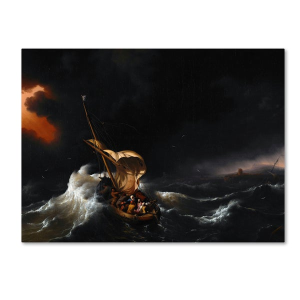 Backhuysen christ in the storm on the sea of galilee canvas art backhuysen x27christ in the storm on the sea of galileex27 publicscrutiny Images