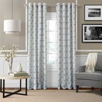 Elrene Crackle Grommet Top Curtain Panel