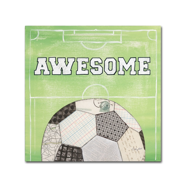 Courtney Prahl 'On the Field IV Awesome' Canvas Art