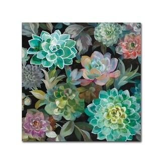 Danhui Nai 'Floral Succulents v2 Crop' Canvas Art
