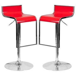Groovy Design Red Adjustable Swivel Barstools