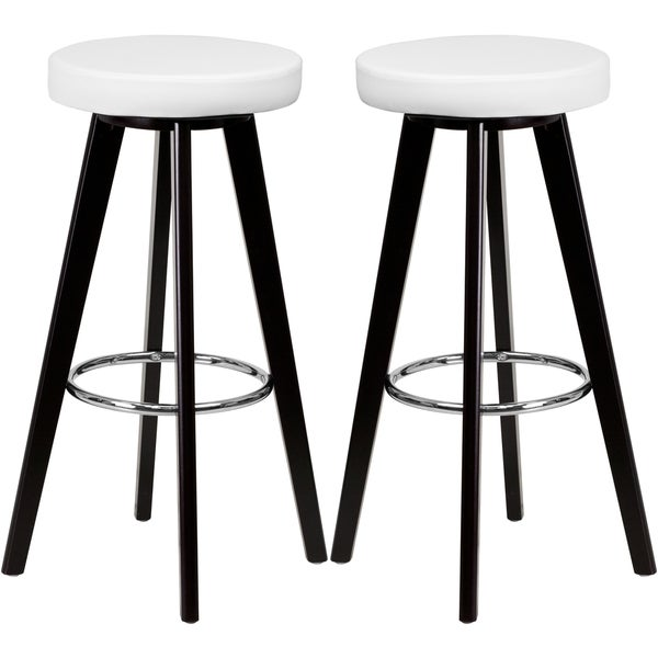 Shop Logan Backless White Upholstered Bar Stools Free