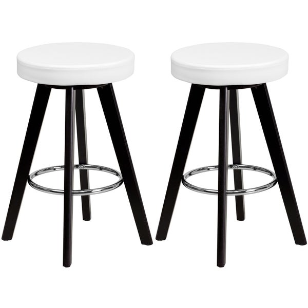 shop logan backless white upholstered counter height stools free shipping today overstock. Black Bedroom Furniture Sets. Home Design Ideas