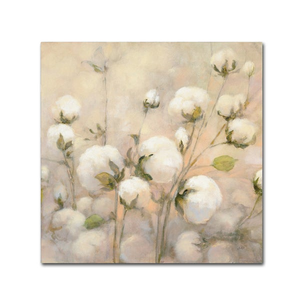 Julia Purinton 'Cotton Field Crop' Canvas Art