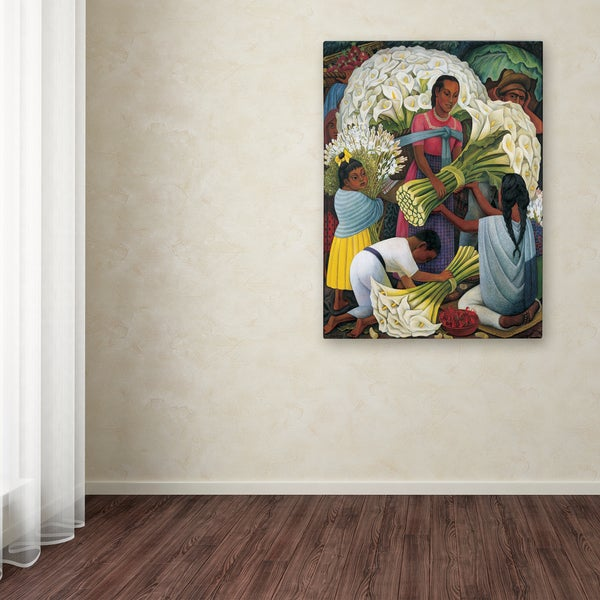 Flower Carrier  by Diego Rivera   Giclee Canvas Print Repro