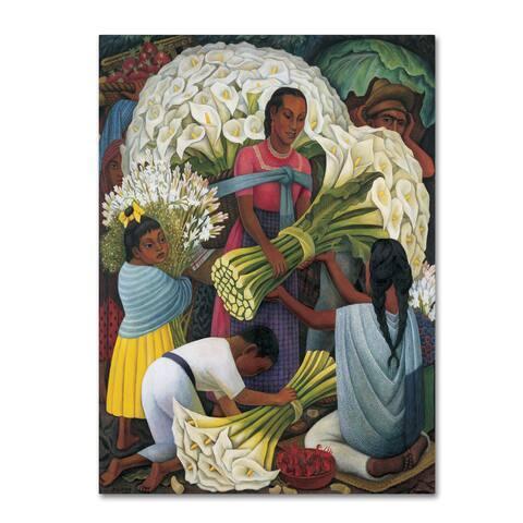 Diego Rivera 'The Flower Vendor' Canvas Art