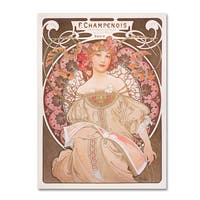 Alphonse Mucha 'Reverie' Canvas Art