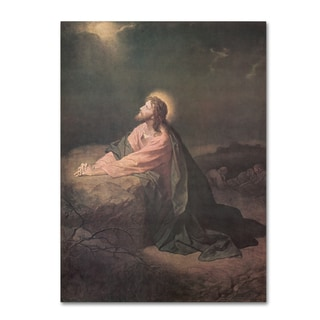 Heinrich Hofmann 'Christ in the Garden of Gethsemane' Canvas Art
