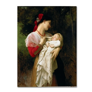William-Adolphe Bouguereau 'Mother and Child' Canvas Art