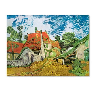 Vincent van Gogh 'Village Street in Auvers' Canvas Art