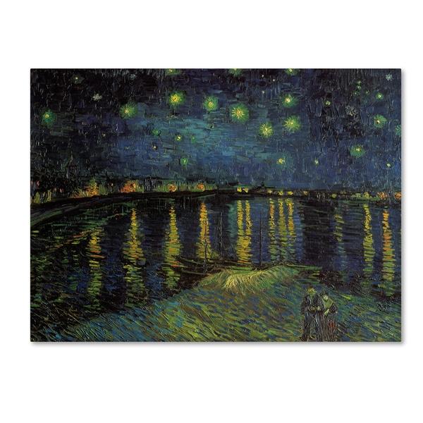 Vincent van Gogh 'Starlight Over the Rhone' Canvas Art