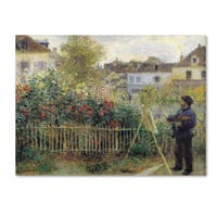 Pierre-Auguste Renior 'Monet Painting Garden' Canvas Art