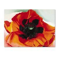 Georgia O'Keefe 'Poppy' Canvas Art