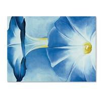 Georgia O'Keefe 'Blue Morning Glories' Canvas Art