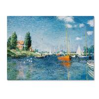 Claude Monet 'Red Boats at Argenteuil' Canvas Art