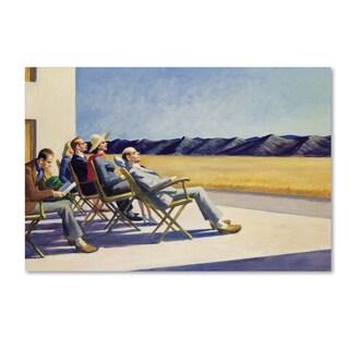 Edward Hopper 'People in Sun' Canvas Art