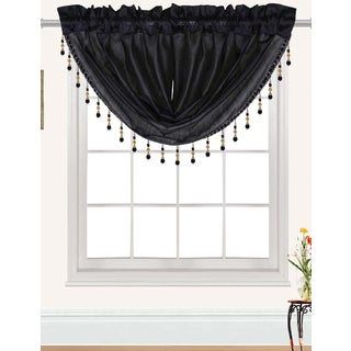 RT Designers Collection Nikki Faux Silk Beaded 47 x 37 in. Swag Valance